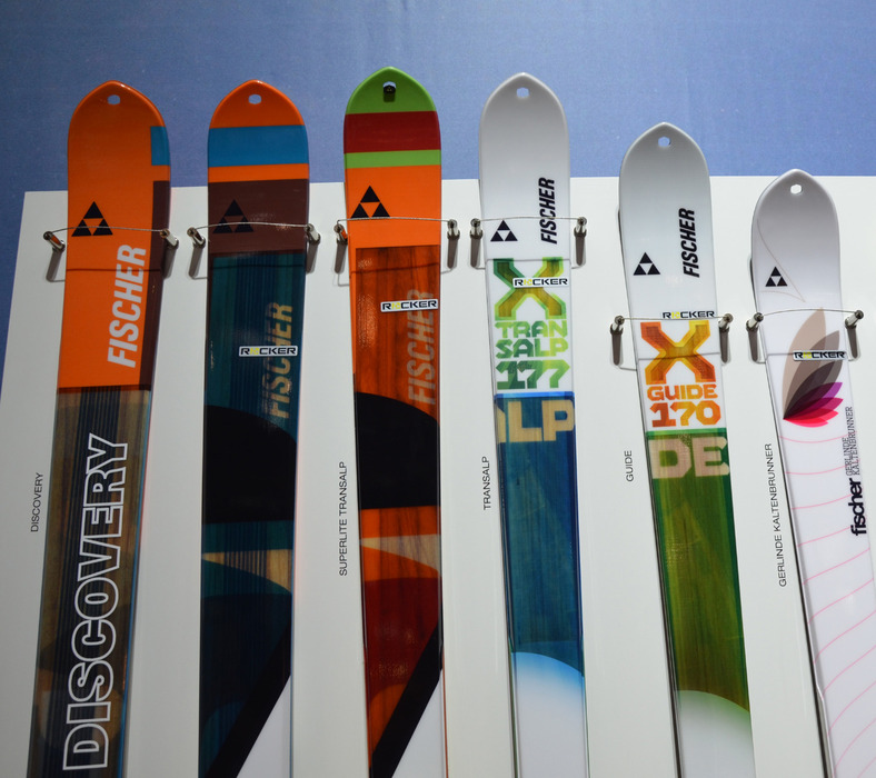 Fischer's comfortable touring skis - extra light thanks to paulownia wood - © Skiinfo