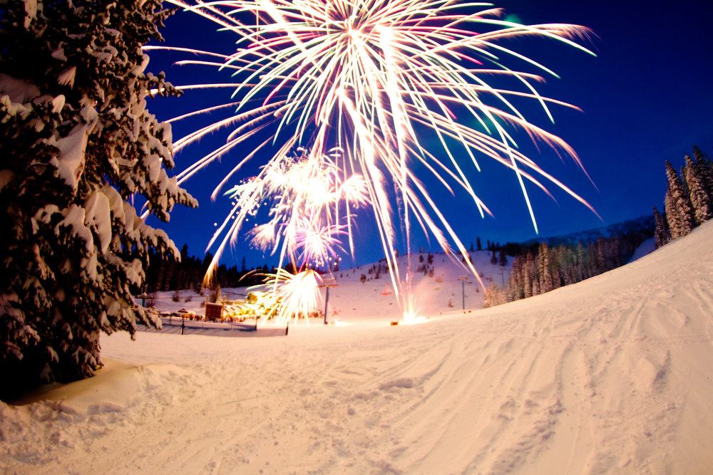 Brundage Mountain fireworks in Idaho. - © Sam Marvin/LMP Photography