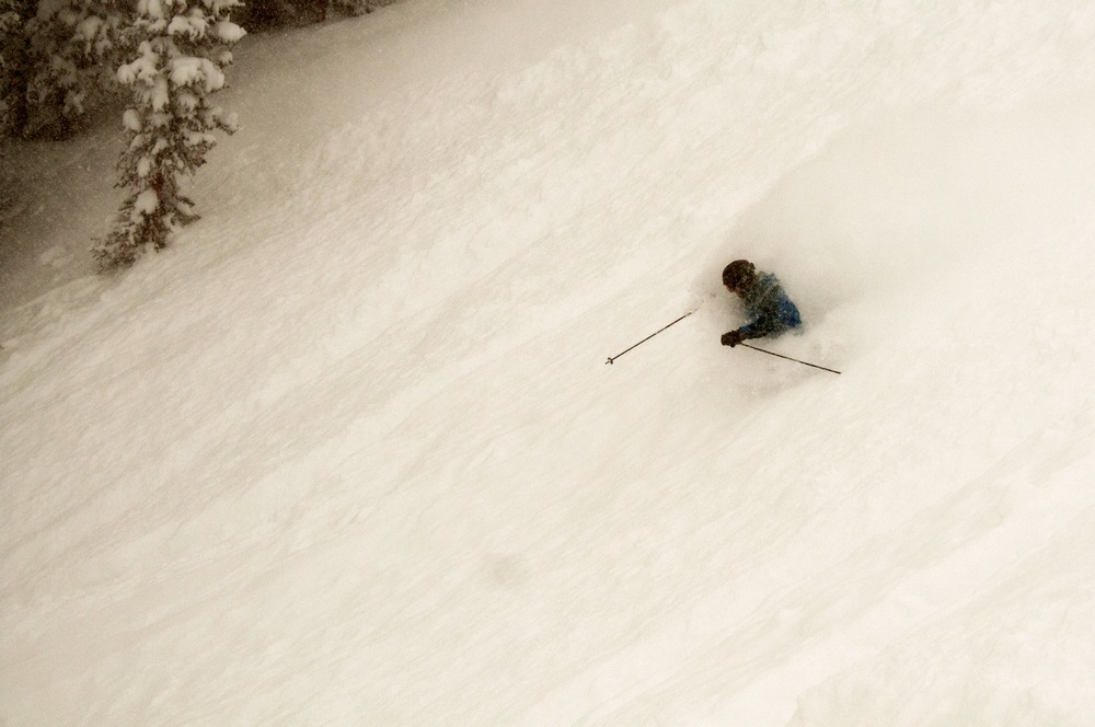Mirkwood Bowl was skiing deep. - © Josh Cooley