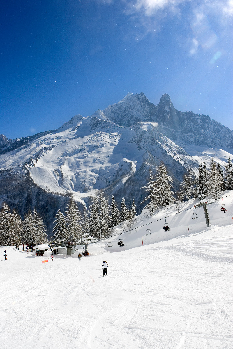 Skiing at Chamonix on La Flegère sector - © M. Dalmasso