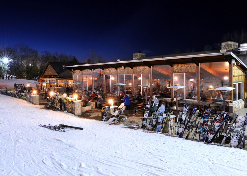 The Historic Stone Chalet is the locals favorite for apres ski at Granite Peak. - © Mark Krambs