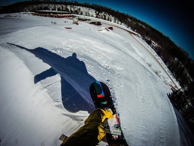 A POV shot from BlackJack. - © Blackjack Ski Resort