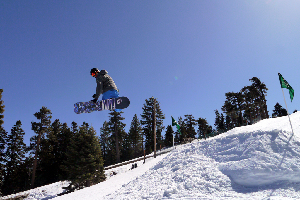 Beautiful weather and great coverage is making for a great spring season at Bear Mountain and Snow Summit.  - © Photo courtesy of Big Bear Mountain Resorts