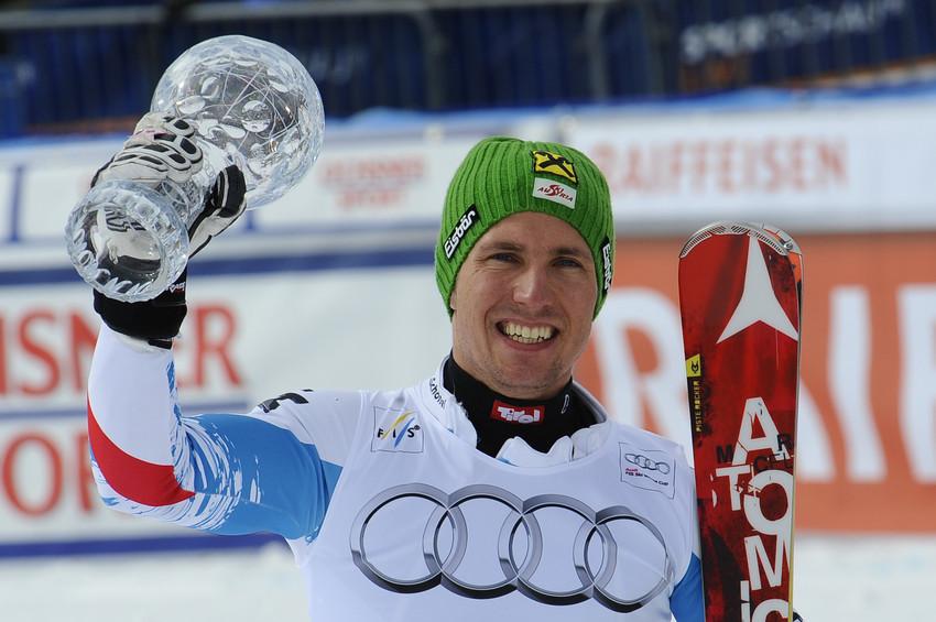 Der beste Slalomfahrer der Saison: Marcel Hirscher gewinnt die kleine Kugel - © Alain Grosclaude/AGENCE ZOOM