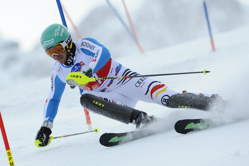 Felix Neureuther auf dem Weg zum ersten Platz - © Alain Grosclaude/AGENCE ZOOM