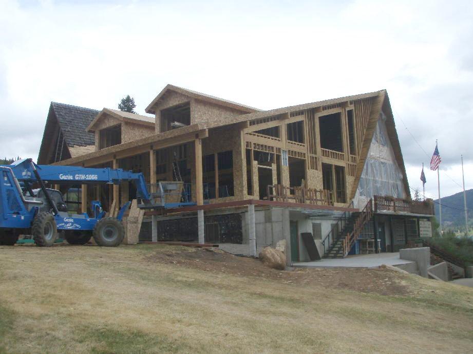 Beaver Mountain Lodge construction