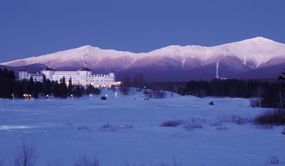 Mount Washington and the Presidential Range makes a stunning backdrop. Photo Courtesy of the Omni Mount Washington Resort. - © Courtesy of the Omni Mount Washington Resort.