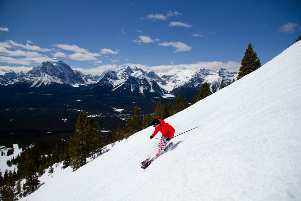 Spring skiing at Lake Louise. Photo courtesy of Ski Big 3.