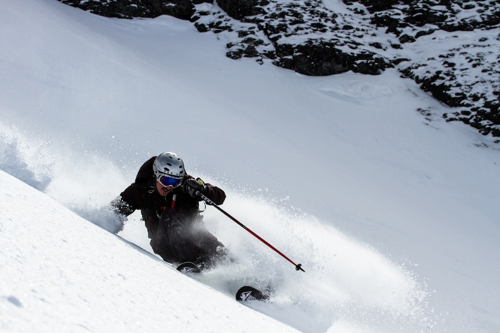Herb Manning finds some great Colorado spring powder. - © Liam Doran