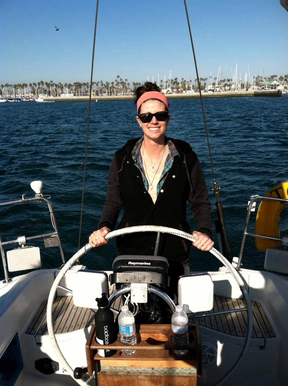 Sailing my Aunt and Uncles boat off the coast of Huntington beach. - © Molly Garland