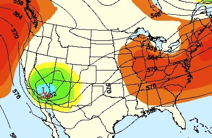 A storm will bring cool air and snow to the central Rockies early next week. - © OpenSnow.com