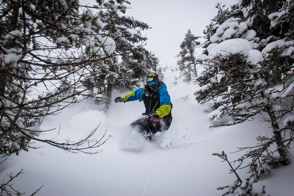 April 2 brought a surprise late season powder day to northern resorts like Jay Peak in Vermont. - © OpenSnow.com