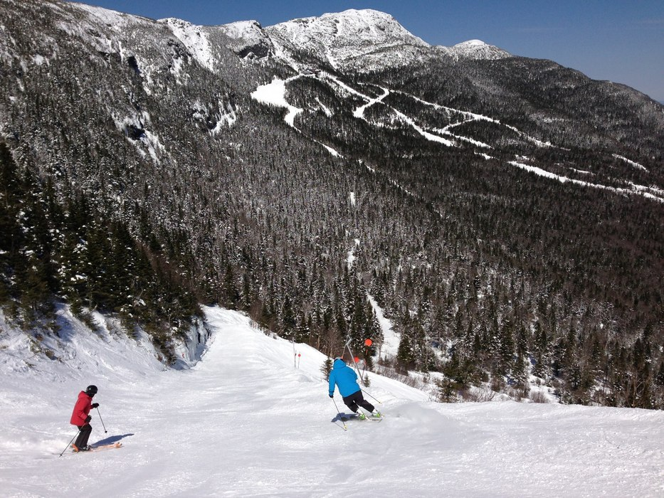 Stowe visitors have been enjoying mid-winter conditions since the start of April. Photo Courtesy of Stowe Mountain Resort.