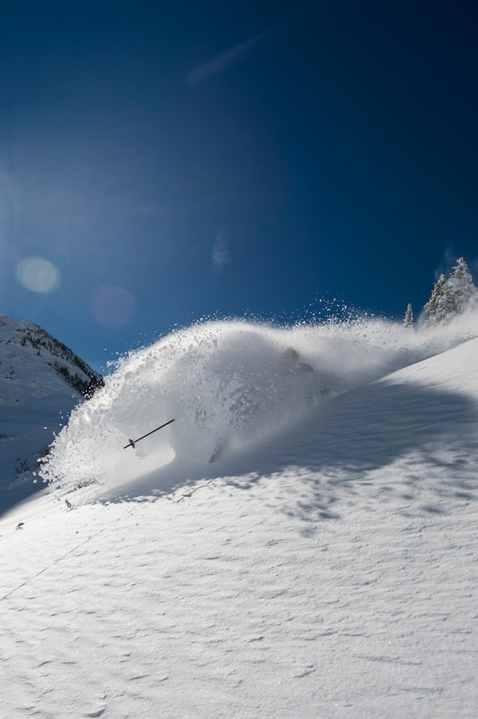 First day we shot this season, in early November after a big dump. The Baldy Shoulder was giving it up. - © Lee Cohen