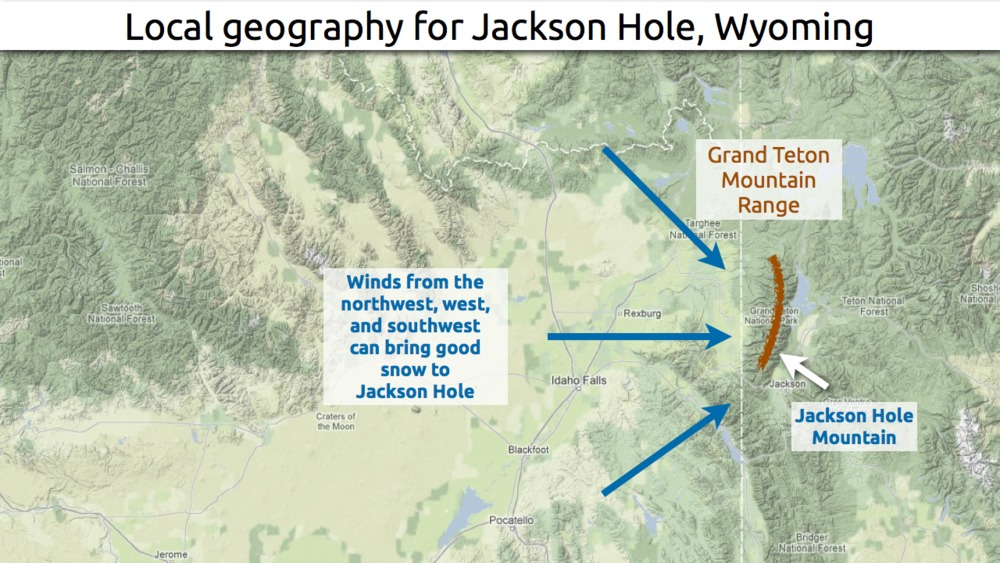 Learn how to predict snowfall totals in Jackson Hole. - © OpenSnow.com