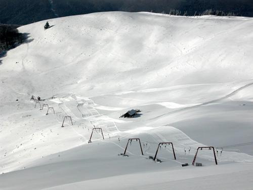 Azuga ski resort in Romania