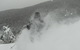 Skiing through powder at Bretton Woods, New Hampshire.