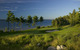 The ninth hole at Bay Harbor Golf Club, Boyne, Michigan.