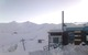 Snow covered ski school at Valle Nevado, Chile.