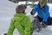 A snowboarder gets personalized instruction at Brundage. Photo courtesy of Brundage Mountain Resort.