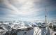 Vue des terrasses et de l'observatoire du Pic du Midi