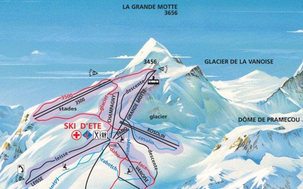 Ski d'été en France