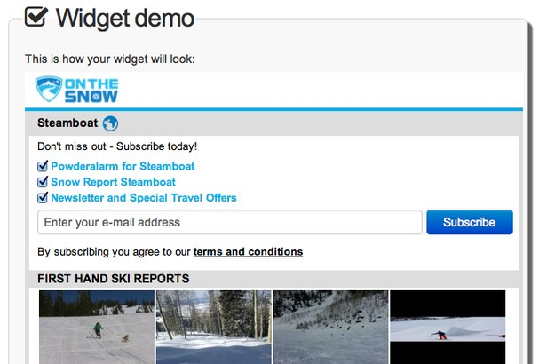Snow Reports for your Website in Minutes