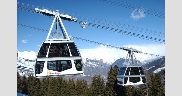 De mooiste skiliften: de Vanoise Express in Paradiski.