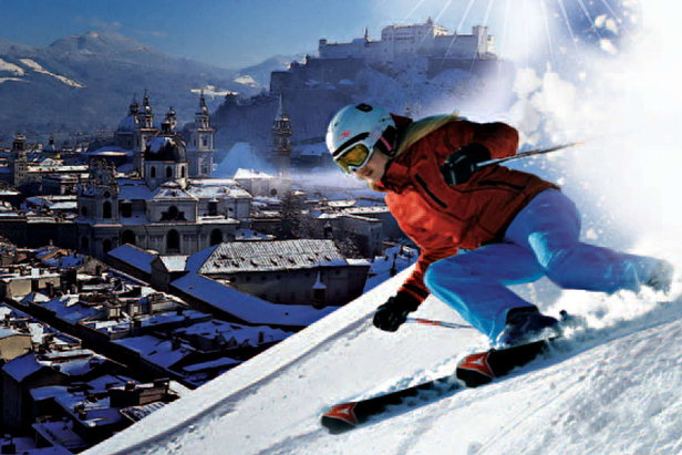 Stay in the city, ski the surroundings - ©Untersberg Mountain