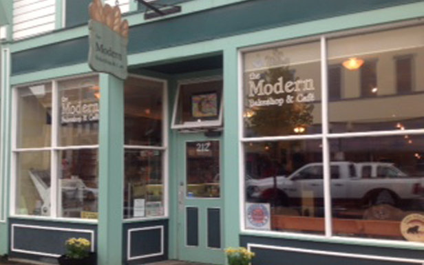 The cheery green and and white facade of the Modern is always a welcome early morning sight.  - © The Modern Café