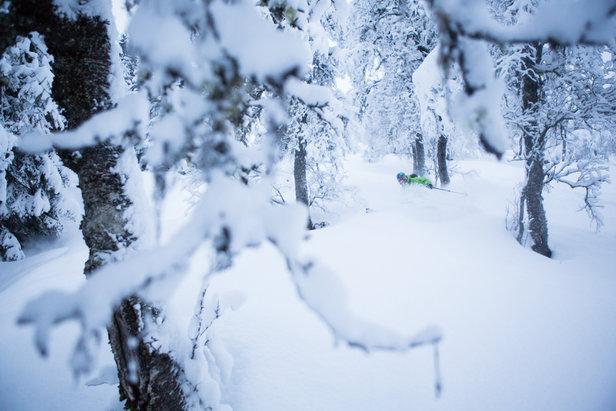 Pudder i Myrkdalen- ©Det regnar stort sett over alt, men i Myrkdalen kjem nedbøren som snø!