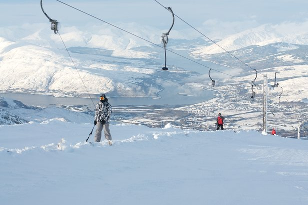 Scotland is a good bet for UK skiers this year: Incredible views at Nevis Range