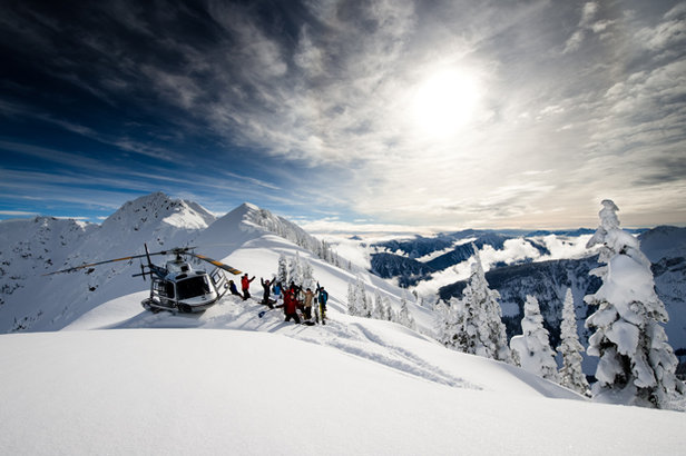 The operation attracts guests from all over the world who travel for the light and dry powder, occasional gladed run through old growth forest, as well as the spectacular scenery of peaks, spires and snowfields.  - © Dan Stewart