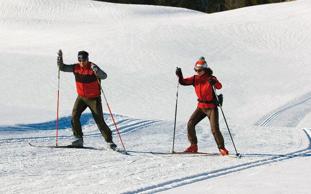 Ski de fond sur les pistes du domaine nordique des Rousses