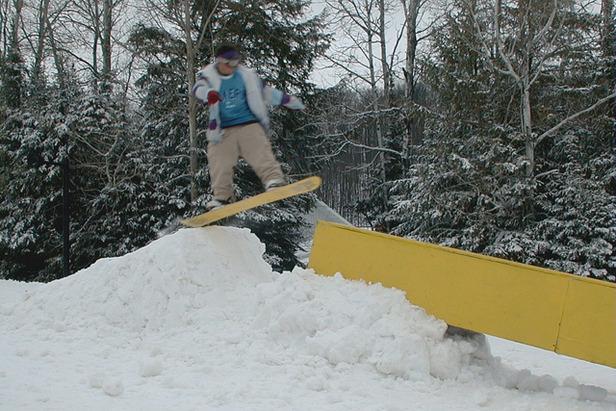 Snowboard trick, Ski Brule, Michigan