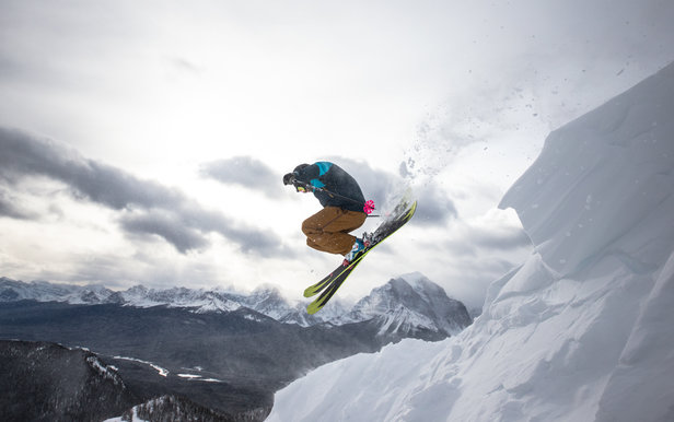 Airing it out over Temple Mountain at Lake Louise.
