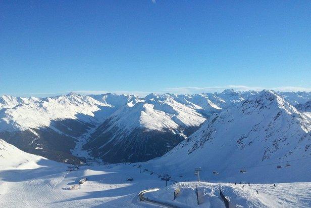 Davos Klosters op 25 januari 2014. De verwachte sneeuwval tussen nu en het eind van het weekend bedraagt 36 cm