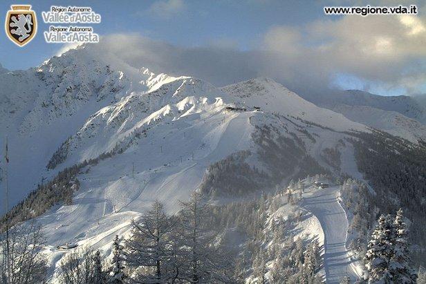Uitstekende skicondities in Courmayeur op 11 februari 2014