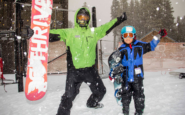 Guests taking advantage of the new snow up at Boreal Mountain this past weekend.