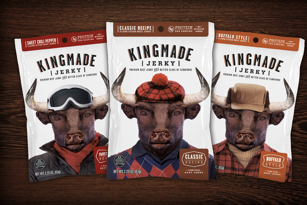 "Kingmade, a gentleman's jerky for ""active sophisticates."""