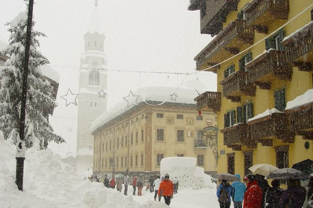 Masses of snow in Cortina Jan. 31, 2014  - © Cortina Tourism