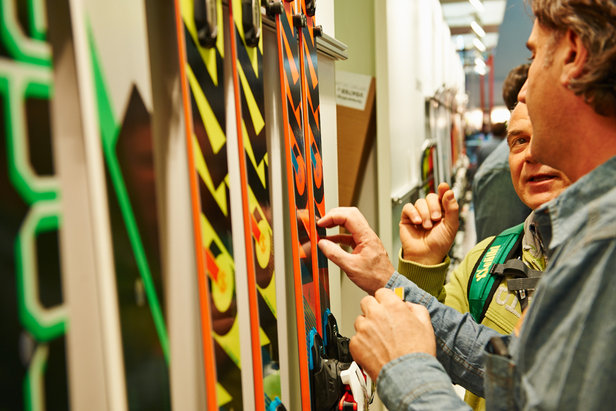 Völkl skis 2014/15 with tapered shape called the 5-point geometry   - © Messe München GmbH