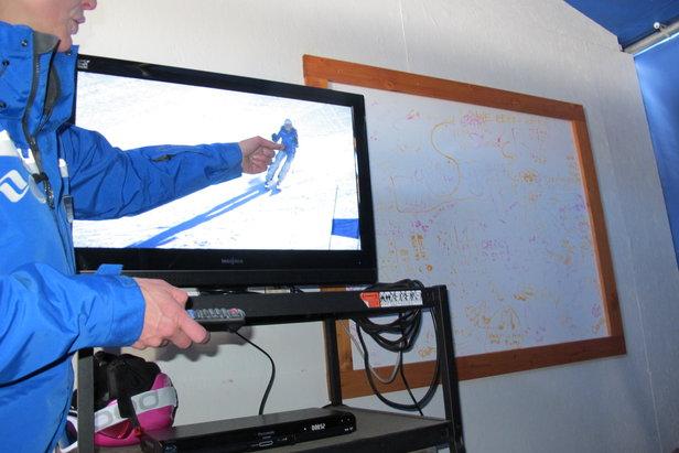 Watching yourself ski, tip #1: suspend judgement.   - © Heather B. Fried