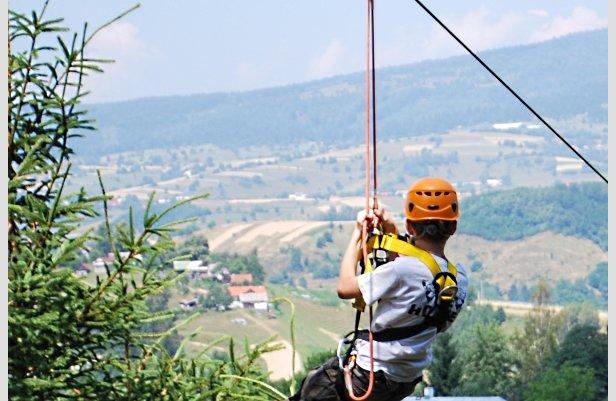 ZipWire na Košutke - najdlhšia dráha na Slovensku (450 metrov)