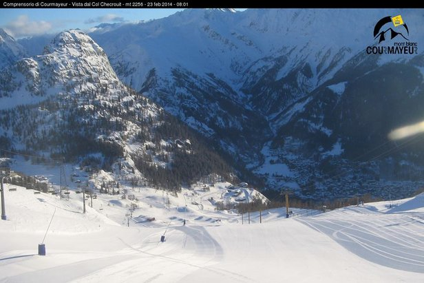 Beautiful conditions in Courmayeur Feb. 23, 2014