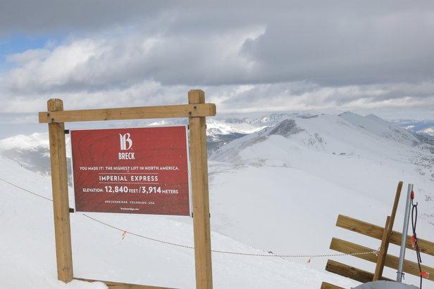 De Imperial Express in Breckenridge is de hoogste skilift in heel Noord-Amerika  - © Micaela Romani
