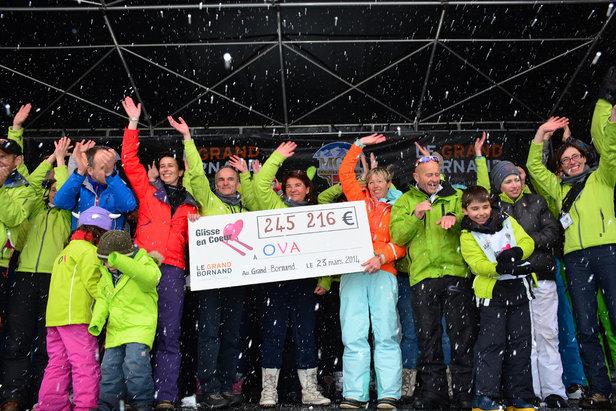 Plus de 250 000 € de dons collectés... L'édition 2014 de Glisse en Coeur signe un record épique au Grand-Bornand...