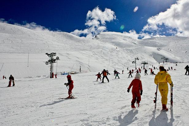 Secteur débutants sur le domaine skiable de Cauterets