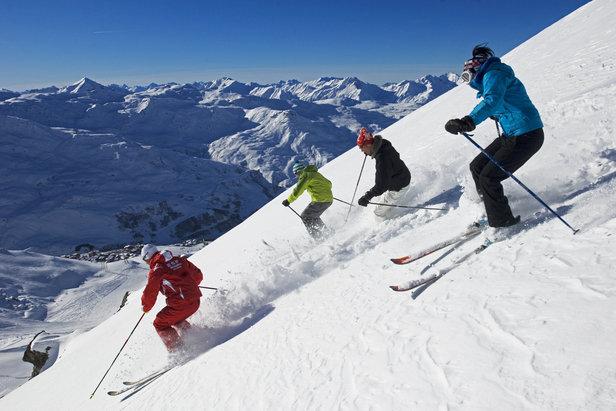 Skiing Les Menuires, France