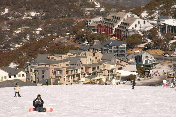 Village views from mid-mountain at Mt Hotham. - ©Aaron Witherow